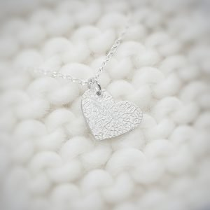 Fine Silver Personalised Double Paw Print Heart Necklace