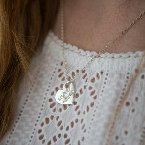 Fine Silver Charity Pendant Necklace