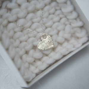 Fine Silver Nature Heart Necklace