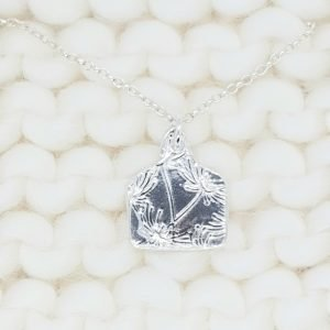 Fine Silver Tag Necklace