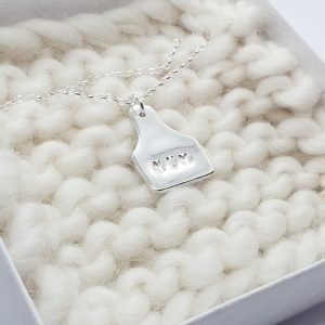 Personalised Fine Silver Tag Necklace