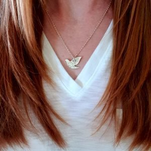 Fine Silver Bird Necklace