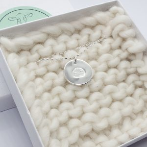 Fine Silver Personalised Pig Snout Circle necklace