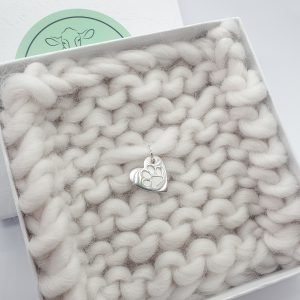 Mini Single Paw Print Heart Pendant Charm Only, no chain